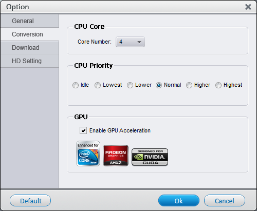WonderFox HD Video Converter Factory Pro - Hardware Encoding
