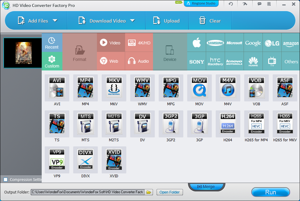 WonderFox HD Video Converter Factory Pro - Supported Formats