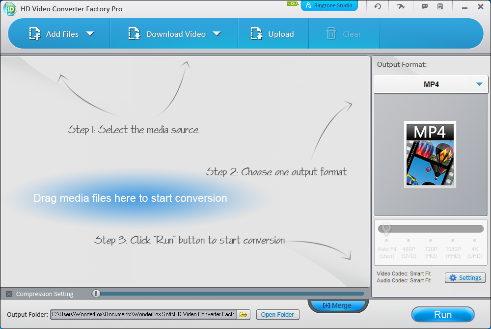 WonderFox HD Video Converter Factory Pro - User Interface