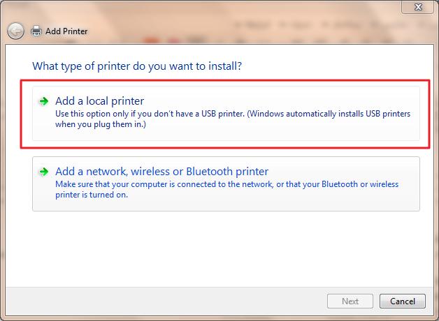 add printer,