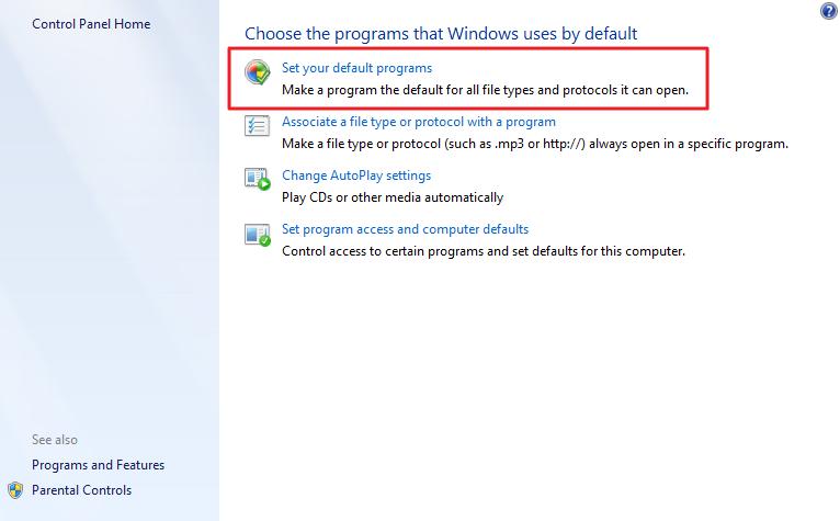 choose the programs.