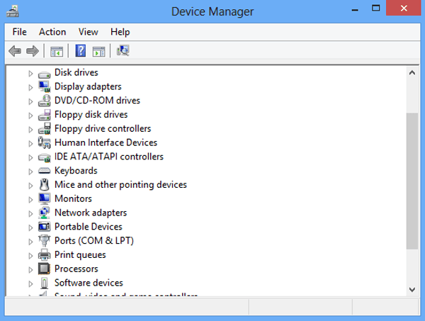پنل device-manager