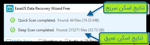 بازیابی سریع و عمیق Data Recovery Wizard