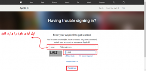 .enter apple id