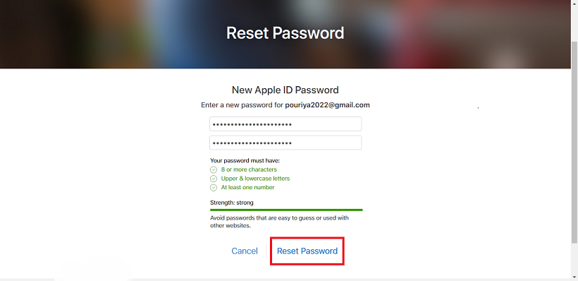 .enter new password