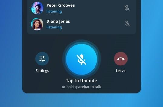 ویس چت گروهی در تلگرام