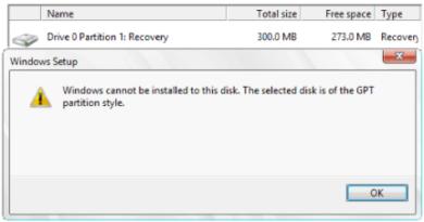 رفع ارور Windows Cannot Be Installed to This Disk