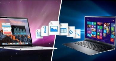 انتقال فایل بین مک و ویندوز