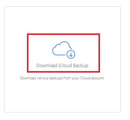 iCloud backup.