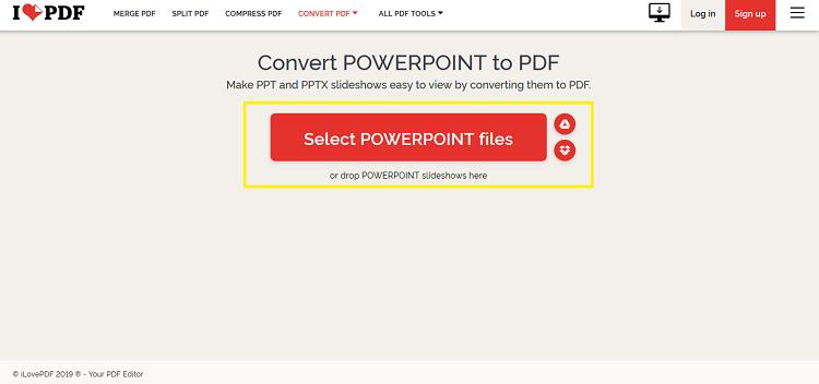 تبدیل فایل پاورپوینت به PDF آنلاین