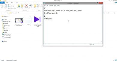 آموزش ساخت زیرنویس فیلم با notepad (فرمت srt) و نرم افزار