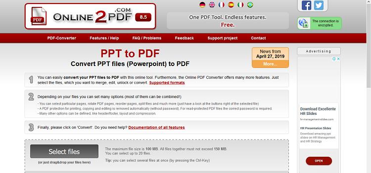 تبدیل PPT به PDF