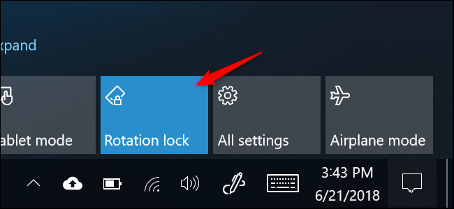 rotation lock display