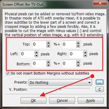 screen offset