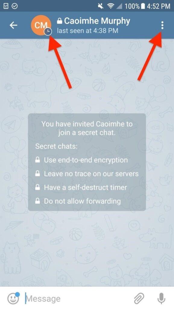 چت مخفی در تلگرام