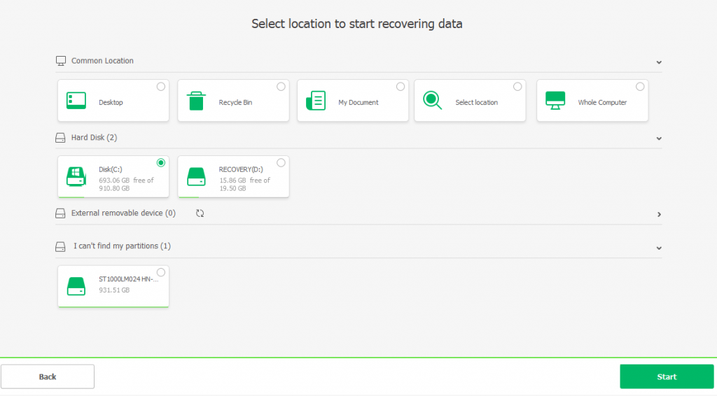 select location file