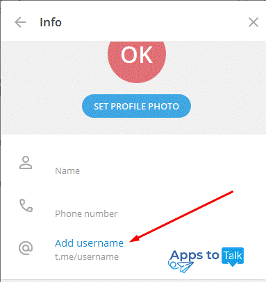 نام کاربری در تلگرام